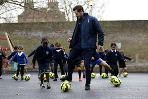 Picture of Ryan Mason attending the official opening of Brook House Primary School on November 24, 2015 in London, England. (Photo by Tottenham Hotspur FC via Getty Images)